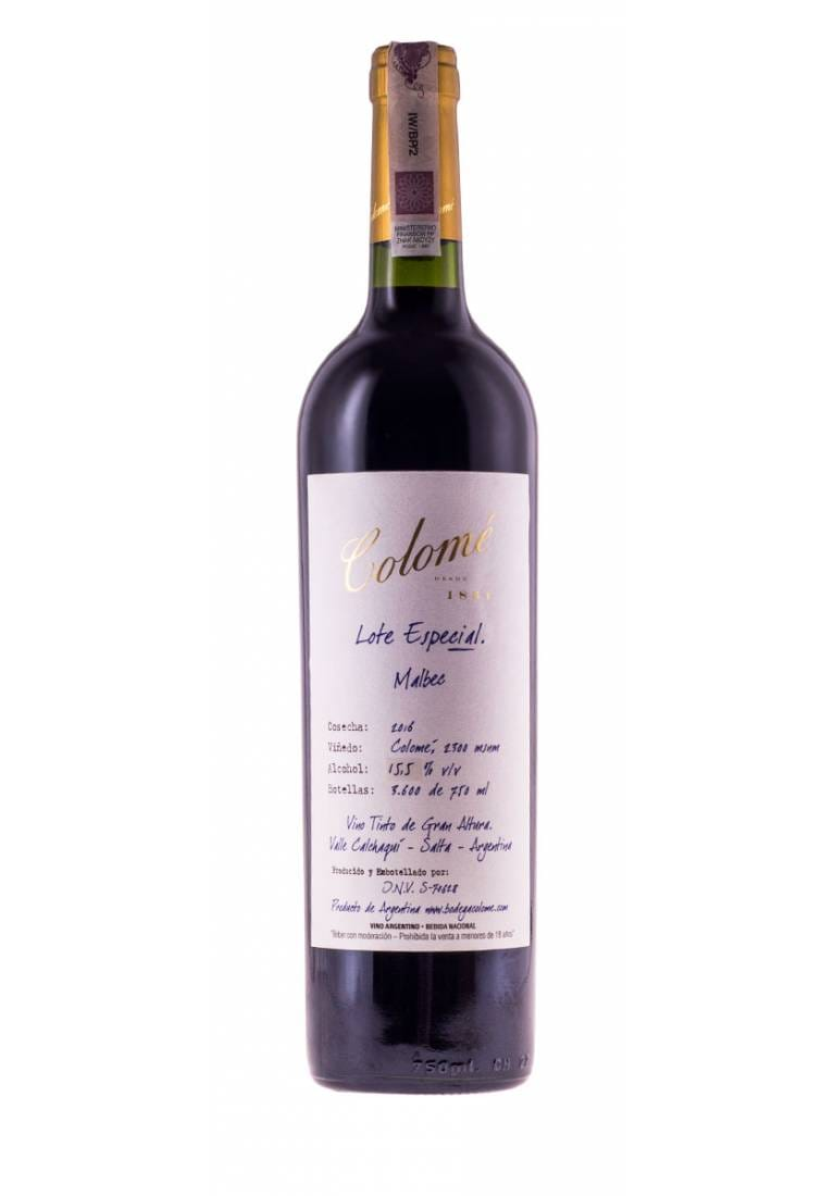 Lote Especal, La Brava, Malbec, 2016, Salta, Colome Estate