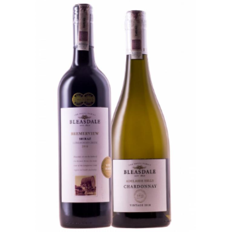 Zestaw mieszany 3 Shiraz Bremerview & 3 Chardonnay Adelaide Hills, Bleasdale + DARMOWA DOSTAWA