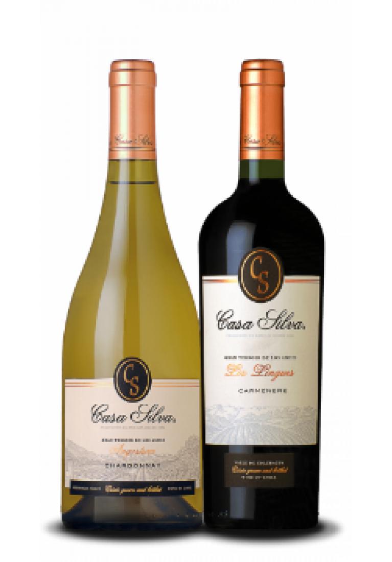 Zestaw Chardonnay & Carmenere, Gran Terroir, Casa Silva, Chile + DARMOWA DOSTAWA
