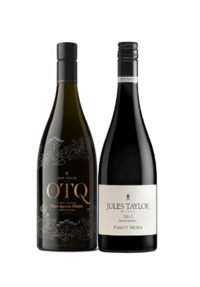 Mieszany zestaw 3 x OTQ Sauvignon Blanc & 3 x Pinot Noir, Jules Taylor z Nowej Zelandii + DARMOWA DOSTAWA