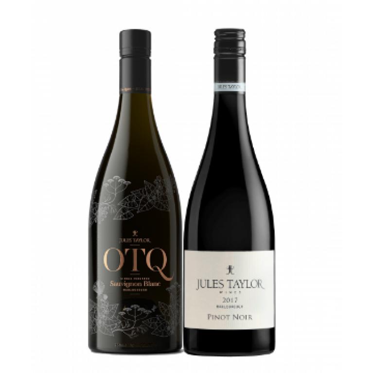 Mieszany zestaw 6 x OTQ Sauvignon Blanc & 6 x Pinot Noir, Jules Taylor z Nowej Zelandii + DARMOWA DOSTAWA