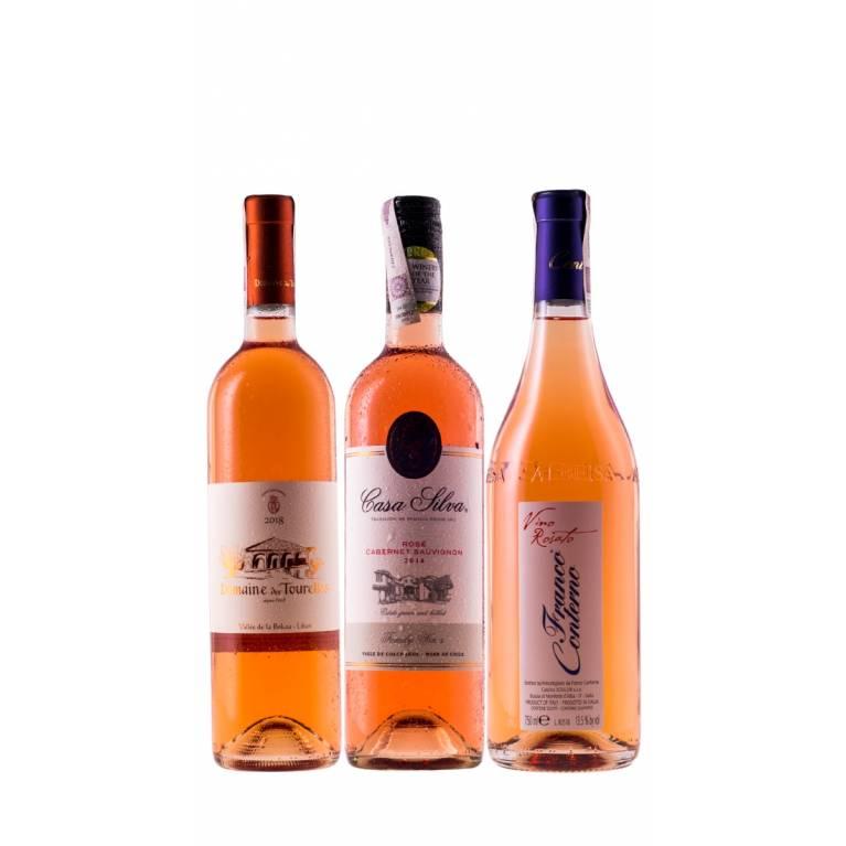 Zestaw mieszany 6 różowych win na lato + DARMOWA DOSTAWA