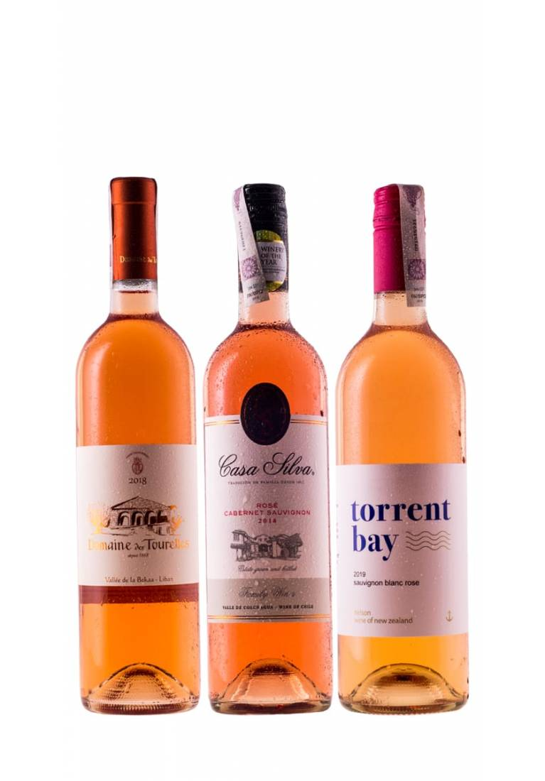 Zestaw mieszany 6 butelek różowych wina na lato + DARMOWA DOSTAWA