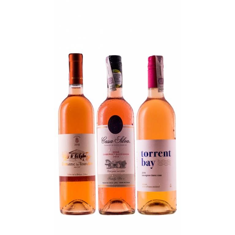 Zestaw mieszany 12 różowych win na lato + DARMOWA DOSTAWA