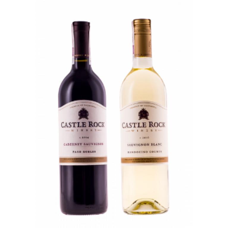 Zestaw mieszany 6 Cabernet Sauvignon & 6 Sauvignon Blanc, Castle Rock Winery, USA + DARMOWA DOSTAWA