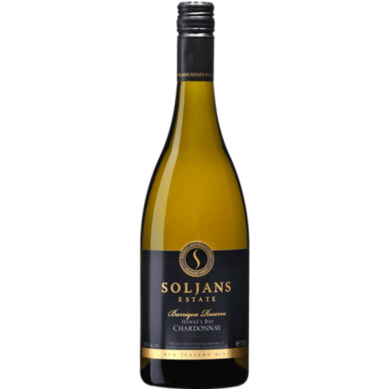 Chardonnay, Barrique Reserve, 2014/2015, Hawkes Bay, Soljans Estate