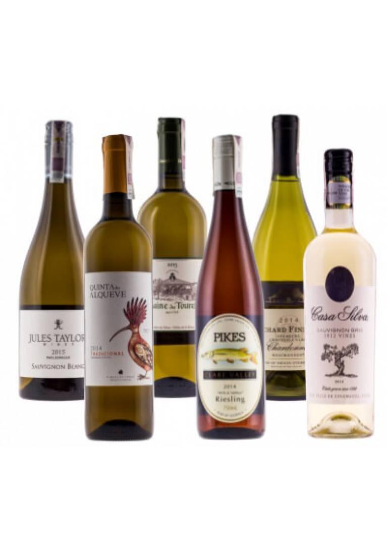 Zestaw 6 białych win z całego świata + DARMOWA DOSTAWA - wine-express.pl