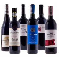6 reds from around the world + FREE DELIVERY