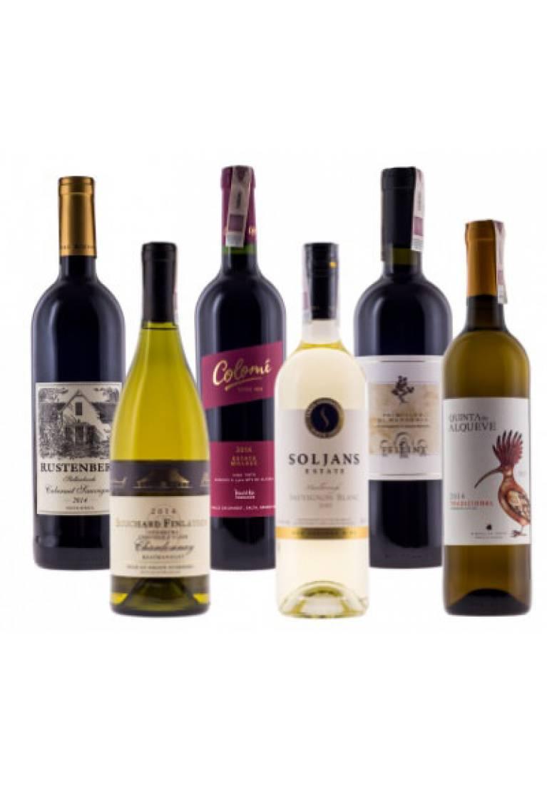 Zestaw mieszany 3 białe & 3 czerwone z całego świata + DARMOWA DOSTAWA - wine-express.pl